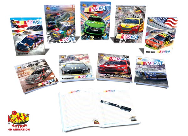 Note Books 4D Animation-Nascar