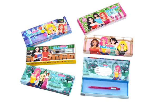 MAGNETIC PENCIL CASE-GIRL MAKE UP