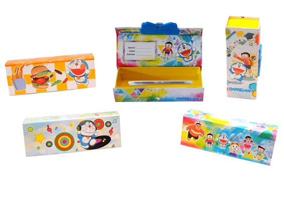 SINGLE PENCIL CASE KUNCI KODE-DORAEMON