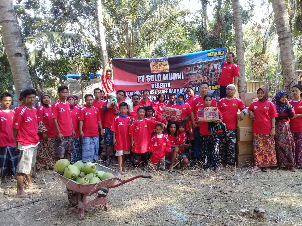 PT. Solo Murni's charity for Earthquake disaster in West Nusa Tenggara